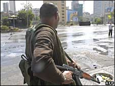 A Shia gunman in Beirut on 9 May 2008