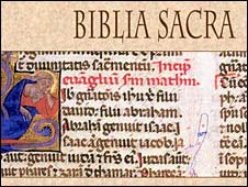 Page of the Bible in Latin
