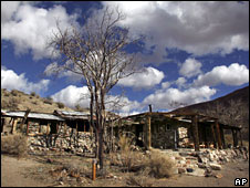 Manson's abandoned Barker Ranch, California, file picture