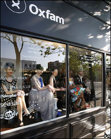 Oxfam's boutique shop front