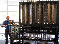 Doron Swade with the babbage machine