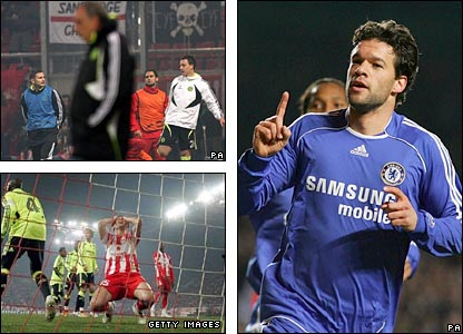 Chelsea beat Olympiakos 3-0 at Stamford Bridge to ease into the quarter-finals