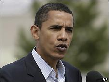 Barack Obama on the campaign trail in Oregon - 10/5/2008