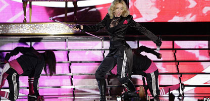 Madonna on stage at Big Weekend