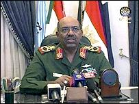 الرئيس السوداني عمر البشير يعلن اندحار المتمردين يوم الاحد