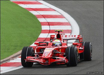 Massa corners in the Ferrari