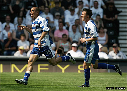 James Harper celebrates scoring for Reading