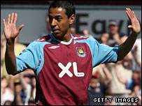 Nolberto Solano scored West Ham's opening goal against his old club