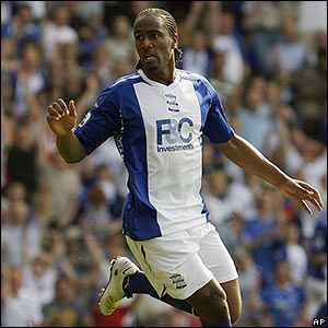 Cameron Jerome celebrates scoring for Birmingham City