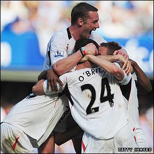 Bolton's Kevin Davies celebrates