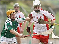 Action from Tyrone's one-point win over Fermanagh