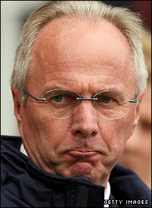 Sven-Goran Eriksson sees his side suffer an embarrassing defeat