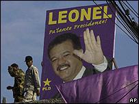 Letrero de campa�a de Leonel Fern�ndez en Santo Domingo