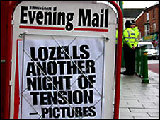 Birmingham Evening Mail billboard