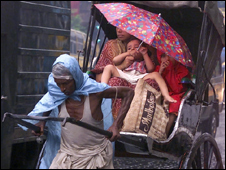 A rickshaw in Calcutta