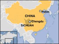 Mapa de la zona afectada.