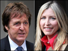 Sir Paul McCartney and Heather Mills, 17 March 2008