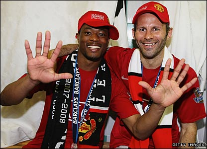 May 11 2008 - Manchester United win the Premier League title again, at Wigan