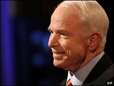 Republican presidential nominee John McCain