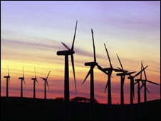 Wind farm at sunset, SPL