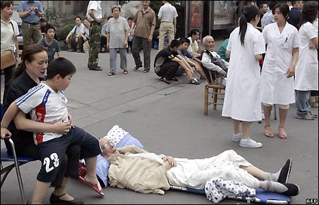 Evacuated hospital in Chengdu