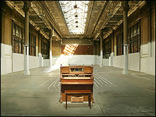 Artist's impression of the organ in the New York building