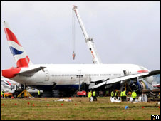 British Airways Boeing 777 crashed at Heathrow in January