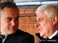 Boss Dave Jones and chairman Peter Ridsdale