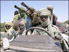 JEM rebels in jeep (Oct 2007)