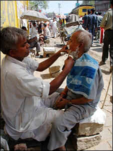 Barber in Jharkhand