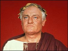 Charles Gray as Julius Caesar in a dramatisation