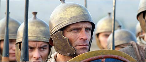 Roman soldiers in a TV dramatisation