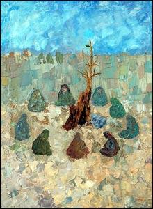 A painting by Fareeha Ghezal Yousufzai