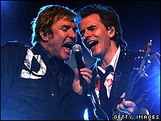 Duran Duran's Simon Le Bon (left) and John Taylor