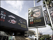 The scene at the Cannes Festival Palace
