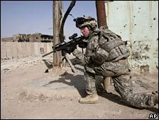 US soldier in Sadr City, Baghdad