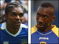 Portsmouth's Kanu and Cardiff's Jimmy Floyd Hasselbaink