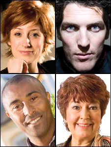 Connie Fisher, James Hook, Colin Jackson and Ruth Madoc