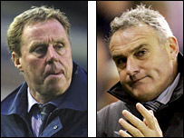 Portsmouth's Harry Redknapp and Cardiff's Dave Jones