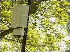 Mobile camera in Hampstead Heath