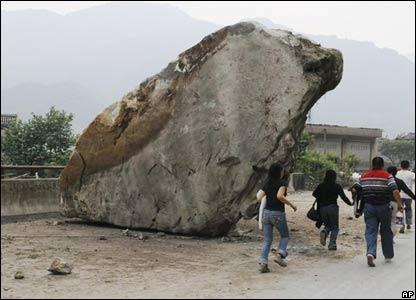 Quake scene in Mianyang