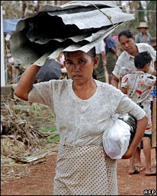 Survivor of cyclone Nargis in south-west Burma