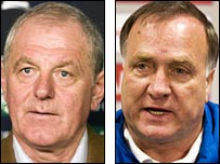 Walter Smith comes face to face with Dick Advocaat