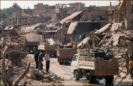 the Palestinian refugee camp of Shatila, 1987