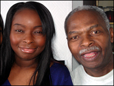 Ermine Hunte and her father Leroy