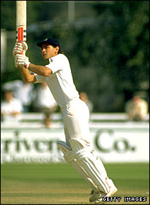 An 18-year-old Mark Ramprakash in action for Middlesex