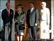 The Queen, Prince Philip, Turkish President Abdullah Gul and First Lady Hayrunnisa Gul