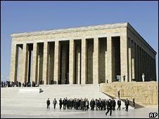 The mausoleum of modern Turkey's founder Mustafa Kemal Ataturk