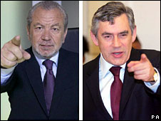 Alan Sugar and Gordon Brown