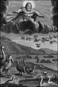 """""""La Creación del Mundo"""". Ilustración de alrededor de 1700"""